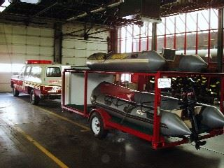 1991 Chevy Suburban Pulling Inflatable Boats