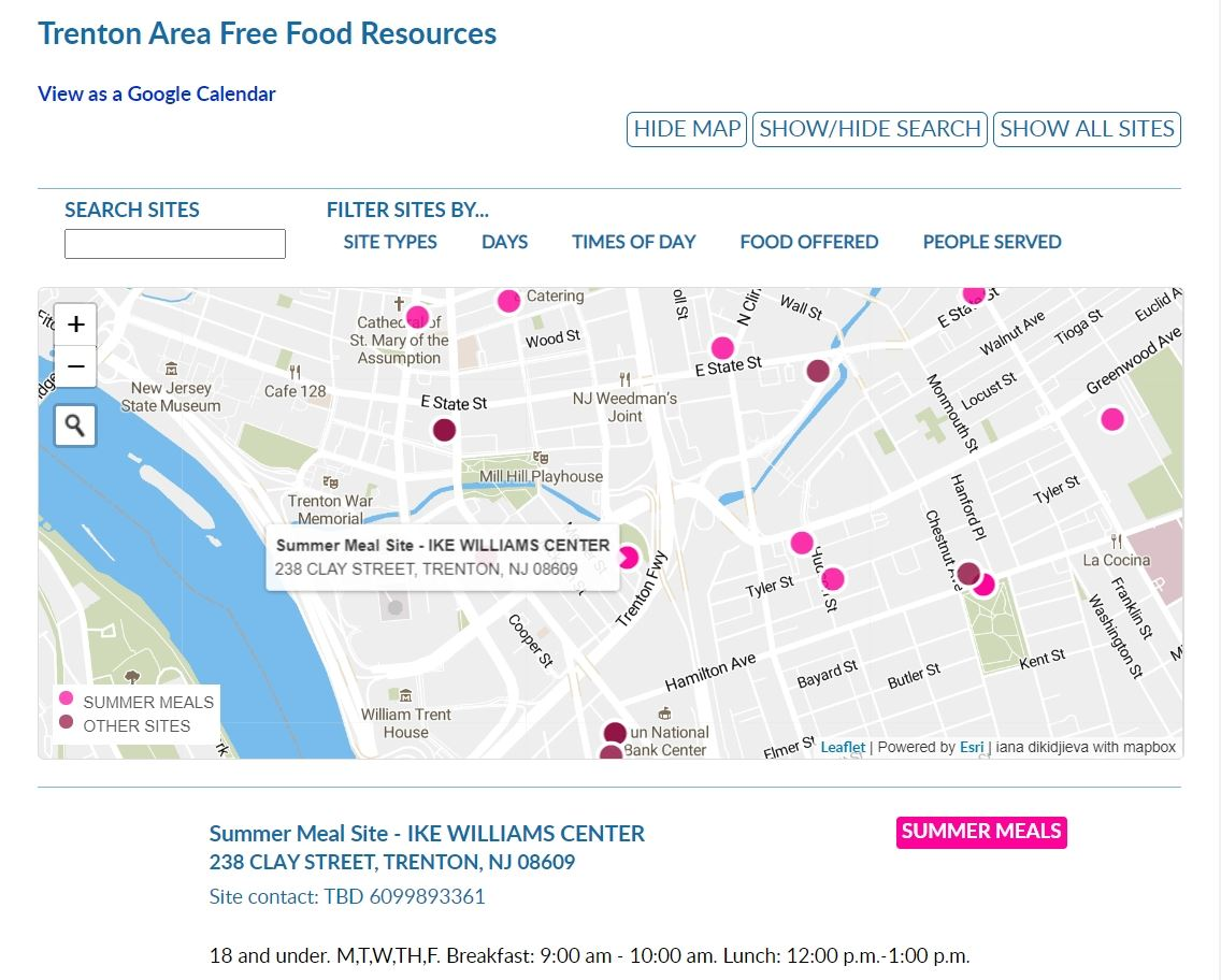 Food Map Screenshot