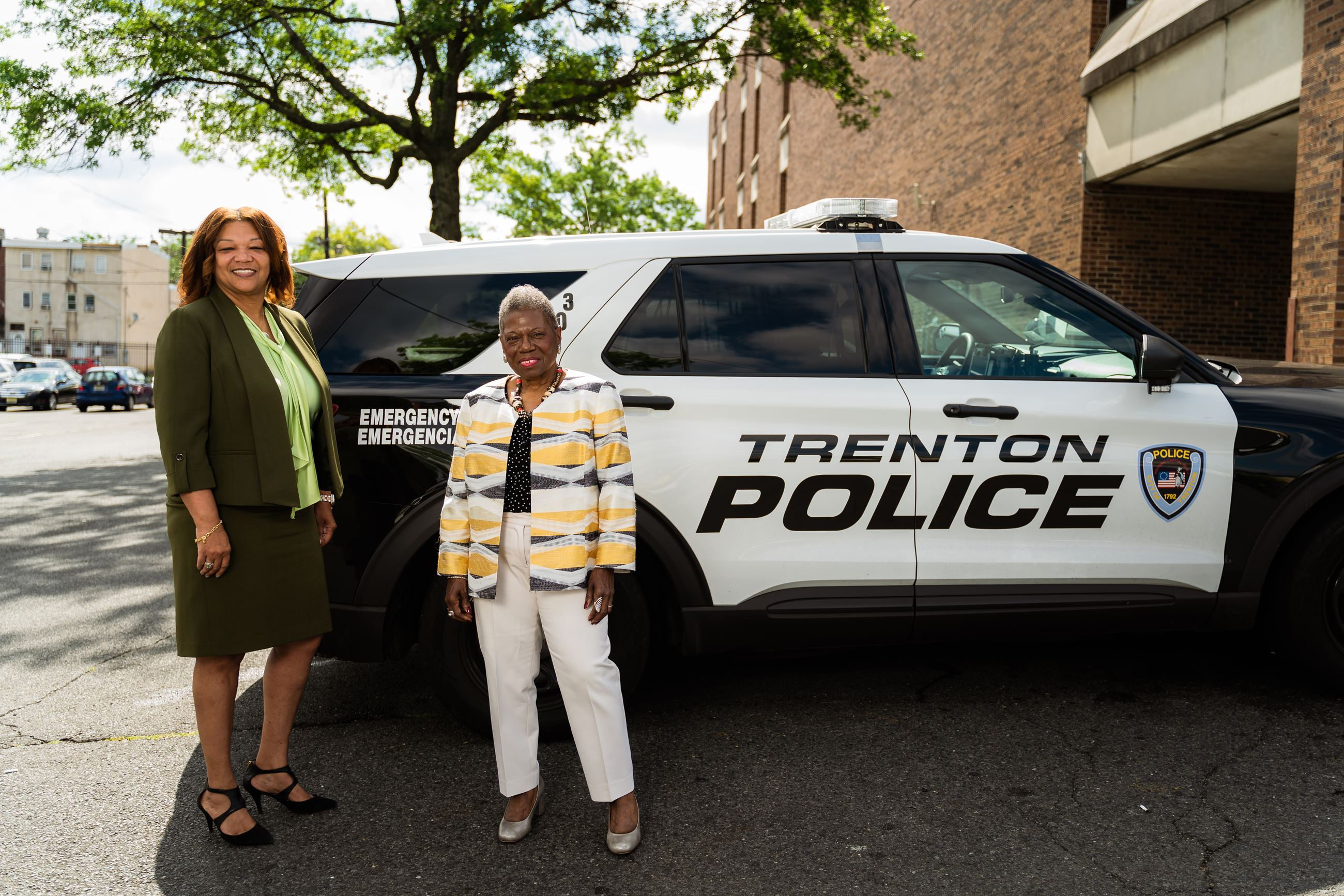 Police Director Sheilah A. Coley and Jeannine LaRue