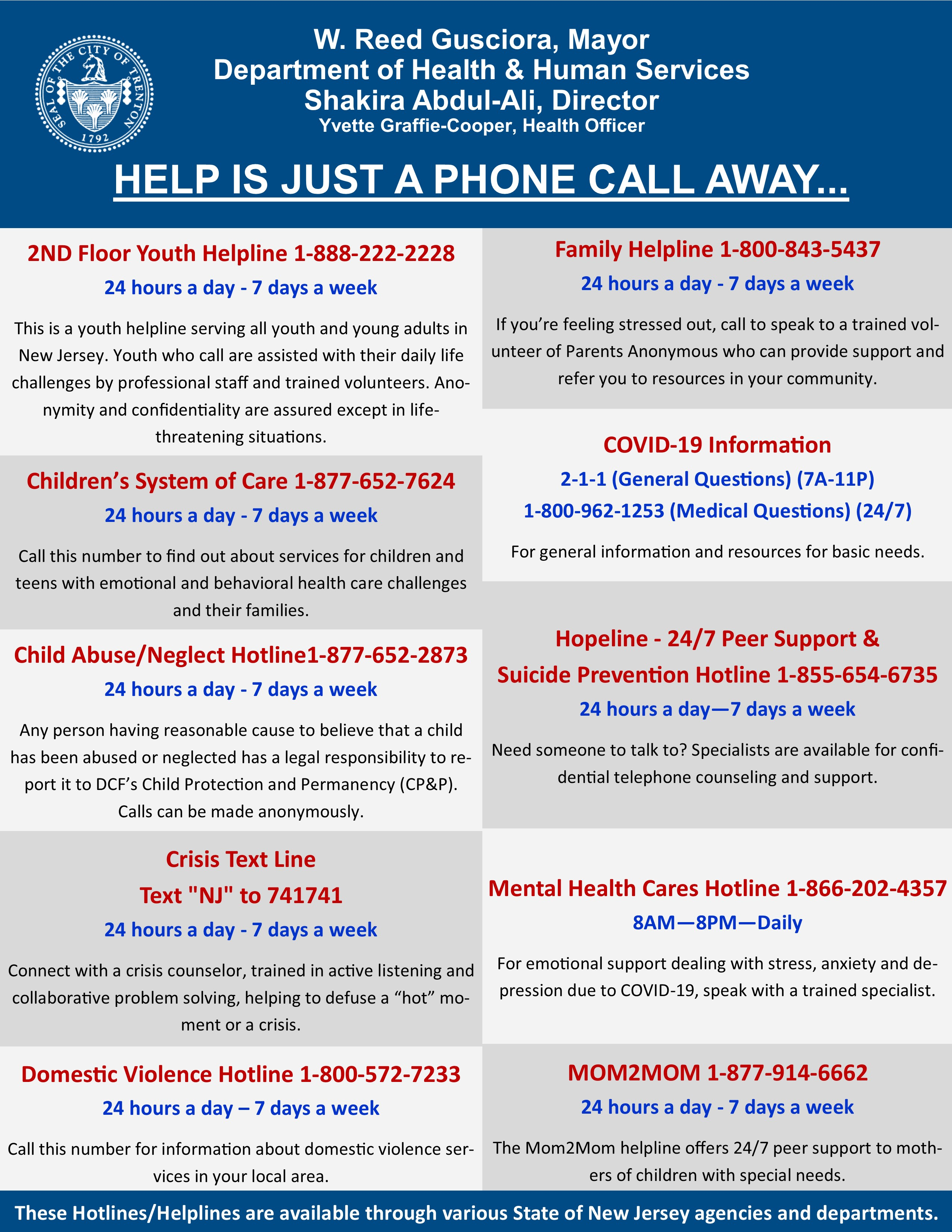 Help is Just a Phone Call Away